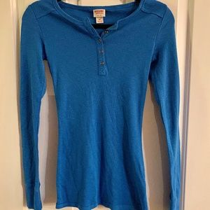 Blue Mossimo Long sleeved thermal NEW W/TAGS